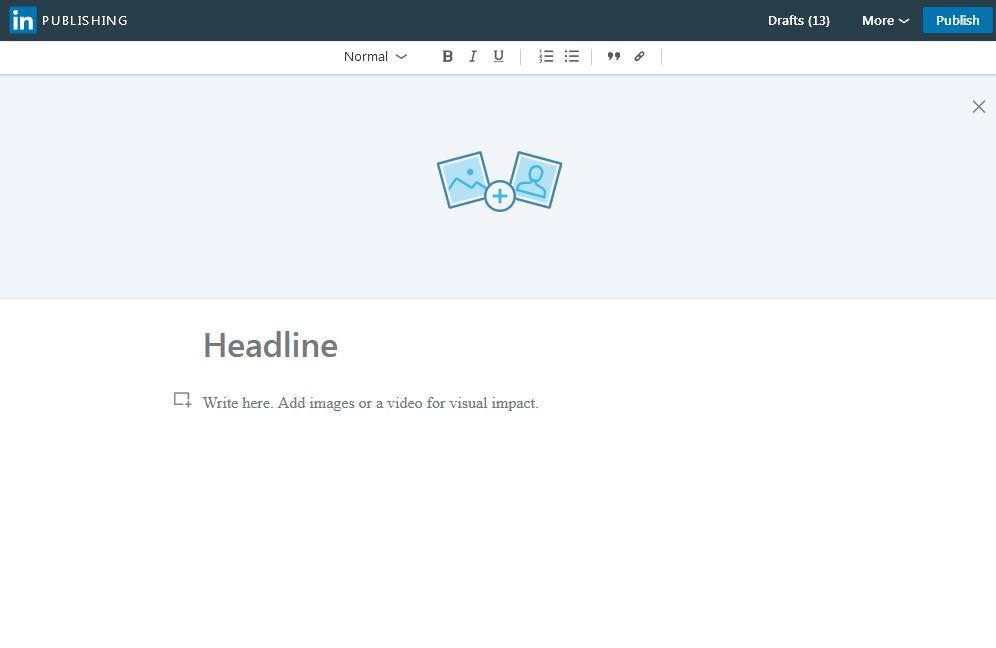 ساختار چگونگی نوشتن پست بلند در لینکدین