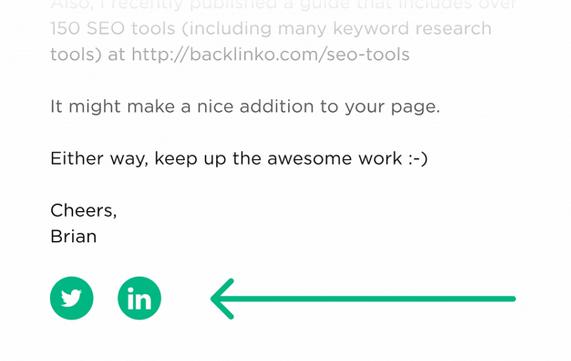 قرار دادن دکمههای شبکههای اجتماعی در امضای ایمیل