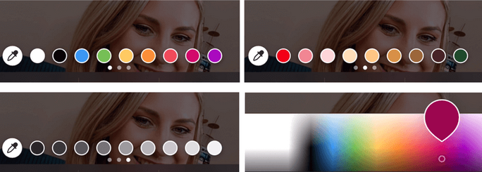 فونت و رنگ سفارشی برای استوری اینستاگرام