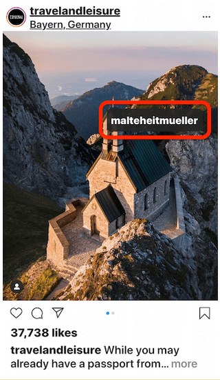 instagram tag example