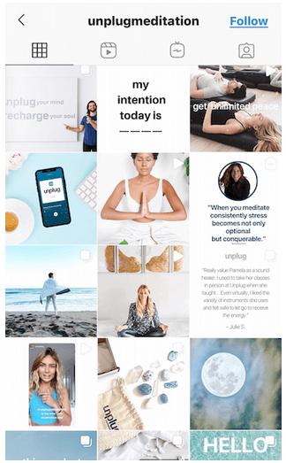 unplug meditation instagram