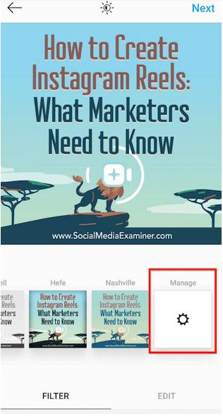 social media examiner instagram filters
