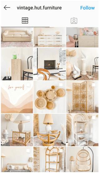 vintage hut furniture instagram