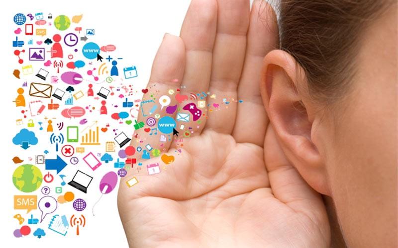 a woman ear listening to medias