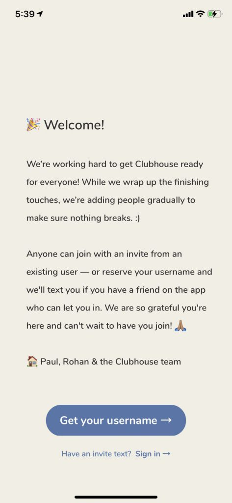 clubhouse intro