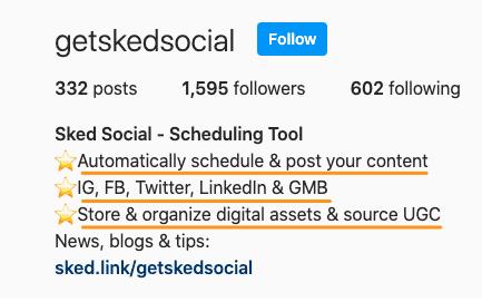 sked social instagram bio details