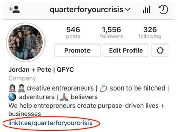 linktree on instagram bio